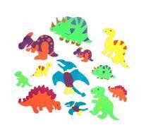 Foam Adhesive Dinosaur Shapes  by Fun Express