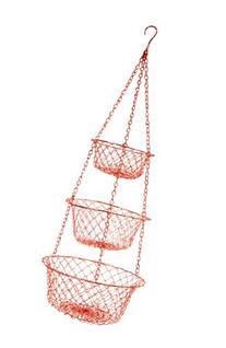 Fox Run Brands Red Hanging Basket, Red