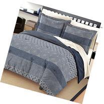 Free Spirit Marina Cotton Comforter And Sham Set, Blue,