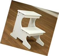Frenchi Home Furnishing Step Stool, White Finish