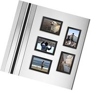 Fridgepic Wood Magnetic Photo Picture Frames, Black - Set of