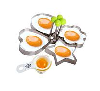Fried Egg Mold Pancake Rings, Premium Stainless Steel Egg