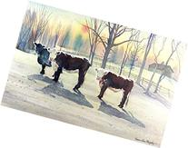 Frosty Morning, Giclee Print of Watercolor Winter Landscape