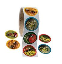 Fun Express 1 Roll Realistic Bug/Insect Stickers , 1.5
