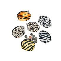 Fun Express Plush Animal Print Coin Purses