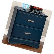 Furniture of America Colorpop 2-Drawer Youth Nightstand Blue