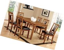 Furniture of America Lazio 7-Piece Transitional Dining Set,