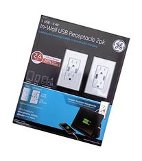 GE In-Wall Tamper-Resistant USB Receptacle