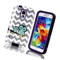 Galaxy S5 Case Cover,S5 Case,SAVYOU Wave Owl 3 in 1 High