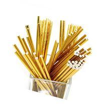 Geeklife 96 Pcs Reusable Paper Straws,100% Biodegradable