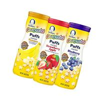 Gerber Graduates Puffs Cereal Snack, Variety Pack, Naturally
