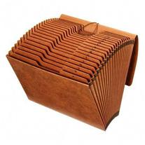 Globe-Weis Accordion Files With Flap, 21 Pockets, 1/3 Tab,