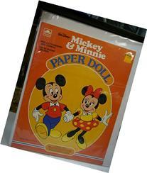 Golden Walt Disney's Mickey & Minnie Paper Doll Set