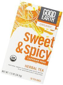 Good Earth Organic Sweet & Spicy Caffeine Free Herbal Tea,