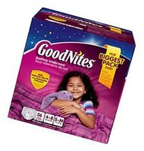Goodnites Bedtime Underware for Girls Small/medium 62 Count