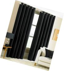 Gorgeous Home  1 PANEL SOLID PURE BLACK THERMAL FOAM LINED