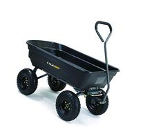 Gorilla Carts Poly Garden Dump Cart with Steel Frame and 10-