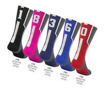 Graphite/Black with White #3 Athletic Sports Socks