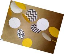 Gray Chevron, White and Bright Yellow Gender Neutral Paper