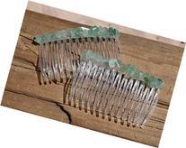 Green Quartz Hair Combs