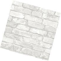 NuWallpaper NU1653 Grey and White Brick Peel & Stick