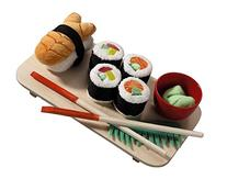 HABA Biofino Sushi Soft Play Food 10 Piece Set with Serving
