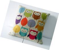 Decorbox Cotton Linen Square Throw Pillow Case Decorative
