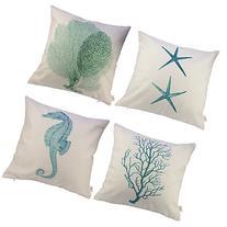 """HOSL Ocean Park Theme Decorative Pillow Cover Case D 18"""" X"""