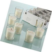 HOSLEY'S Set of 48 Unscented Glass Filled Votive Candles -