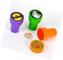 Halloween Stamps; Includes: Bats, Ghosts, Pumpkins Pack of