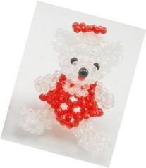 Handmade Bead red Small Bear Christmas gift present
