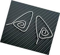 Handmade Earrings, Sterling Silver Hoop, Triangular Spiral