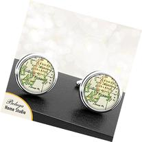 Handmade Vintage Map Cuff Links Newport RI USA City Cuff