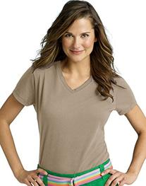 Hanes Women's Lightweight Short Sleeve V-neck