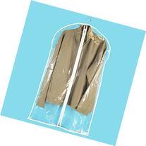 HANGERWORLD 6 Clear 40inch Showerproof Mixed Trim Garment