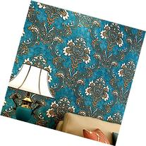 HaokHome 1014 Luxury Damask Flocking Textured Wallpaper Roll