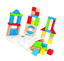 Hape Maple Wood Kid's Builidng Blocks in Assorted Shapes and