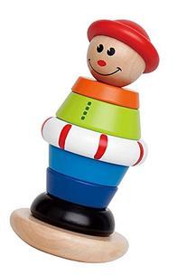 Hape Stacking Jack Wooden Ring Balancing Toddler Toy