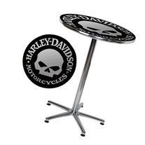 Harley-Davidson Bar Table with Skull Design - Black