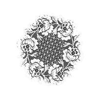 Heritage Lace Cottage Rose 15-Inch Round Doily, Ecru, Set of