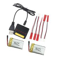 Holy Stone 5-In-1 Drone Battery Charger and 2 Pcs batteries
