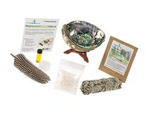 Home Cleansing & Blessing Kit TM with Abalone Smudging Bowl