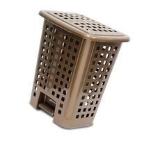 Home Logic Step-On Lidded Hamper, Bronze