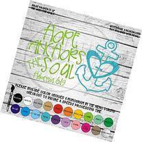 Hope Anchors The Soul Hebrew 6:19 Vinyl Die Cut Decal