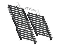 "Household Mall Pinch Grip Hangers - 12"" Black Break"