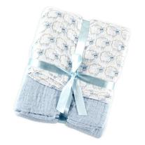 Hudson Baby 2 Count Muslin Swaddle Blanket, Blue