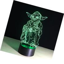 Huiyuan Desk Lamp 3d Star Wars 7 Colors Change Touch Switch