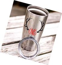 Hunting Antlers Monogram Decal Sticker | Works on YETI, RTIC