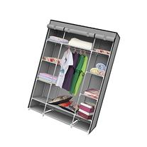 IDS Portable Clothes Storage Closet with Shelves, 53 inch,
