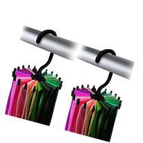 IPOW 2 Pack Updated Twirl Tie Rack Belt Hanger Holder Hook